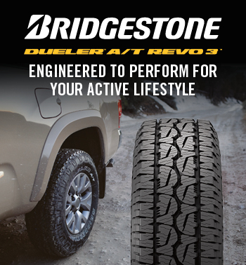 Bridgestone Dueler A/T Revo 3  Engineered to prepare  for your Active  lifestyle