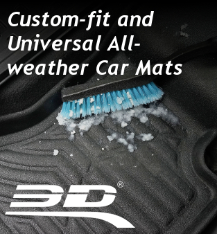 Custom-fit and universal all-weather car mats 3D