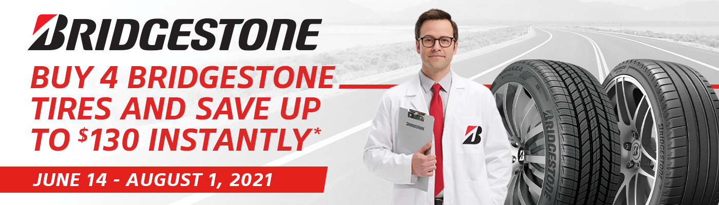 Buy 4 Bridgestone tires and save upto $130 instantly.