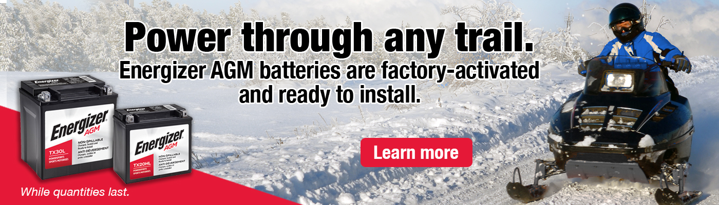 Energizer AGM batteries are factory-activated and ready to install. Learn more.