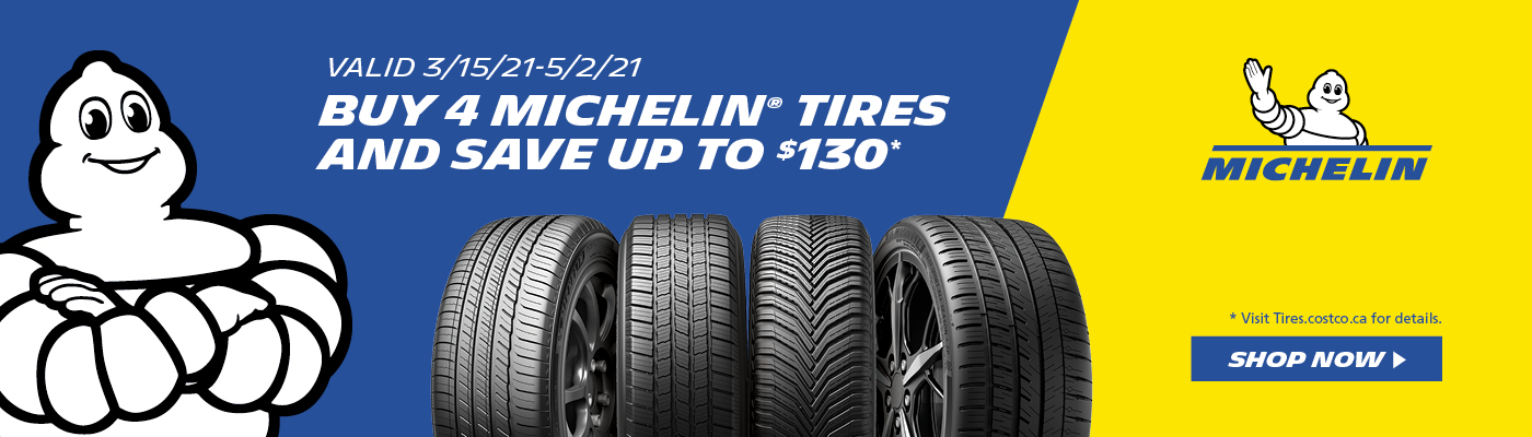 Buy 4 Michelin tires and save up to $130, Opens a dialog.