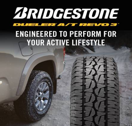 Bridgestone,Dueler A/T Revo3 Engineered to Perform For Your Active Lifstyle