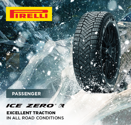 Pirelli passenger ice zero FR. Excellent traction in all road conditions.