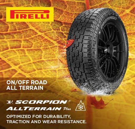 Pirelli on/off road Scorpion all terrain plus Tires.