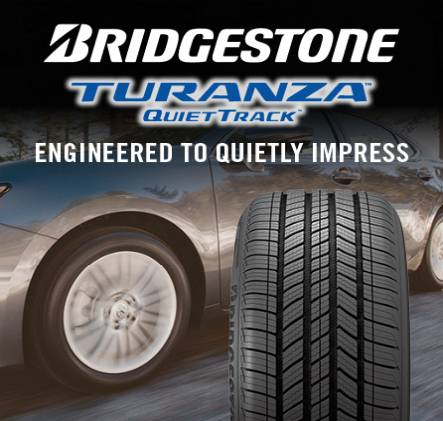 Bridgestone Turanza QuietTrack, engineered to quietly impress.