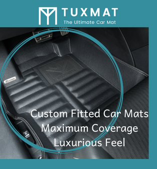 Custom fitted car mats, maximum coverage, luxurious feel