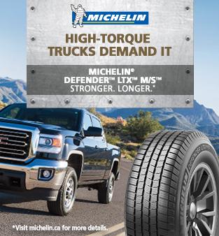 Michelin high-torque trucks demand it. Michelin defender LTX M/S stronger. Longer. Visit michelin.ca for more details.