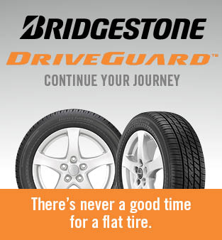 Bridgestone driveguard, continue your journey, there's never a good time for a flat tire.