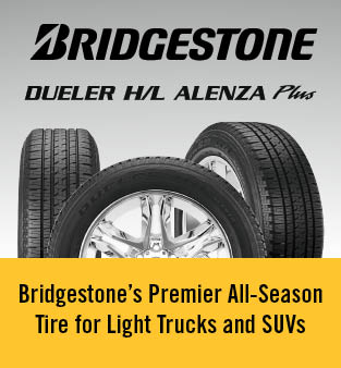 Bridgestone dueler H/L alenza plus - Bridgestone's premier all-season tire for light trucks and suvs
