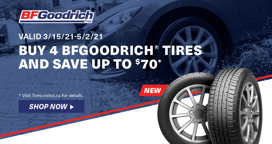 Buy 4 BFGoodrich tires and save upto $70, opens a dialoge