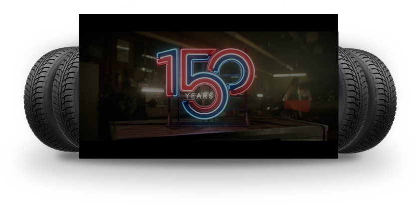 Watch video, 150 Years of BFGoodrich, Opens a Dialog