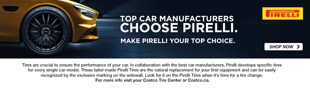 Top Car manufacturers Choose Pirelli. Make pirelli your top choice. shop now. Opens a Dialog.