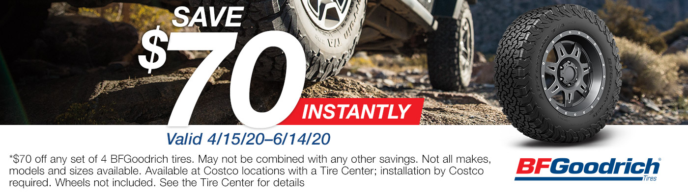 Save $70 instantly valid 4/15/20 to 6/14/20.