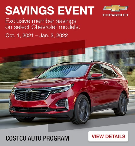 Savings event exclusive member savings on select Chevrolet models. View details.
