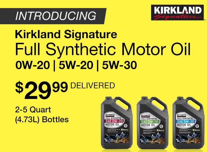 Introducing Kirkland Signature Full Synthetic Motor Oil Ow-20|5w-20 |5w-30