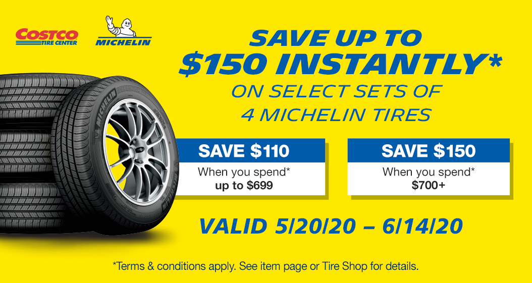 Michelin, Save up to $150 Instantly Installation for 4 Michelin tires