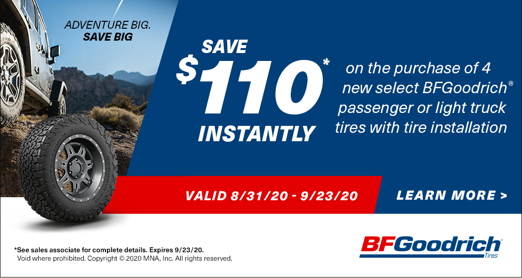Adventure Big. Save Big. Save up to $110* Instantly. Valid 8/31/20 - 9/23/20.